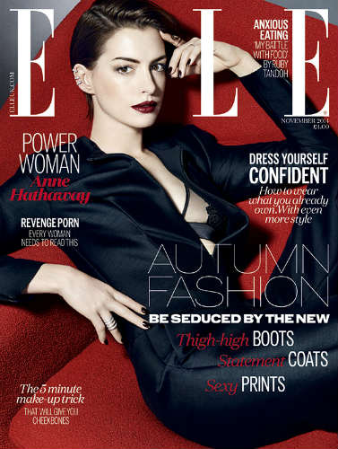 Anne Hathaway Elle UK cover