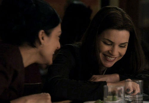 The Good Wife's Archie Panjabi and Julianna Margulies