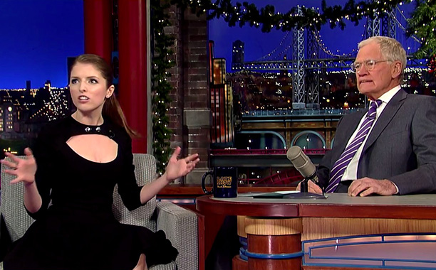 Anna Kendrick's interview on The Late Show with David Letterman
