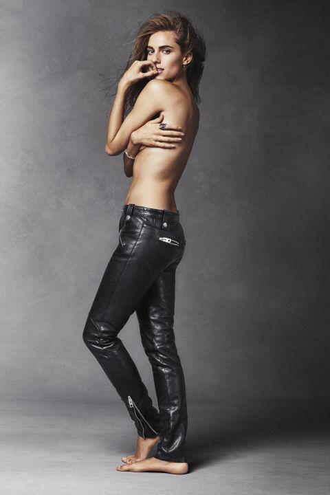 Allison Williams topless  in Harper's Bazaar