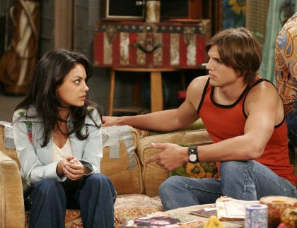 Mila Kunis and Ashton Kutcher in That 70s Show. (Fox)
