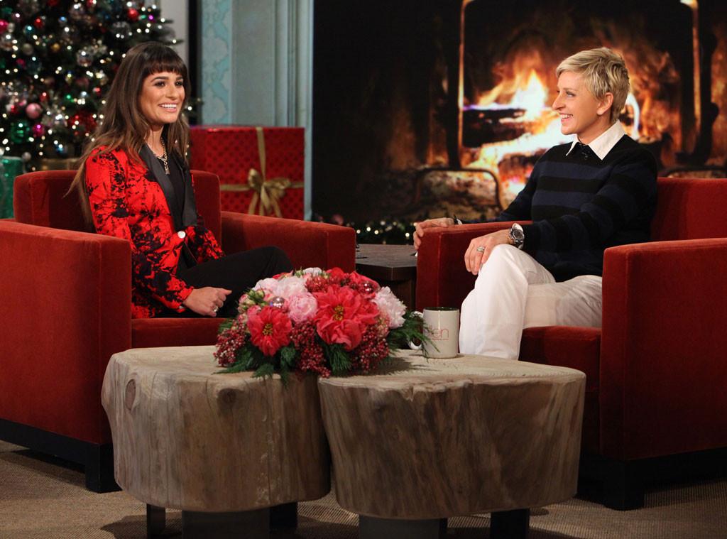 Lea Michele discusses Cory Monteith's death on Ellen