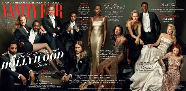 Vanity Fair Hollywood Issue George Clooney Idris Elba