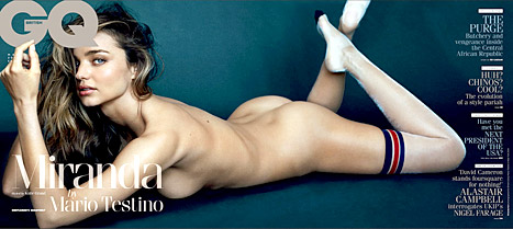 Miranda Kerr naked in GQ