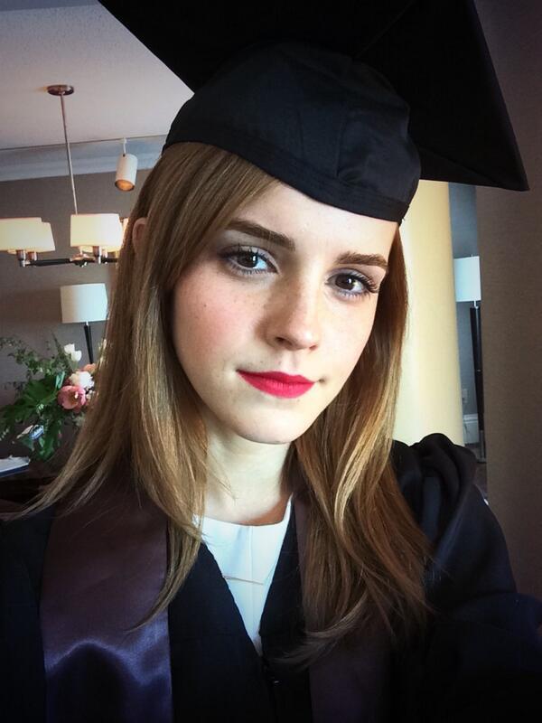 Emma Watson graduation