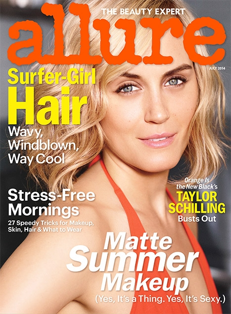 Taylor Schilling on Cover of Allure Magazine