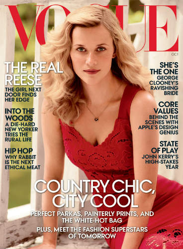 Reese Witherspoon Oct 2014 issue of Vogue