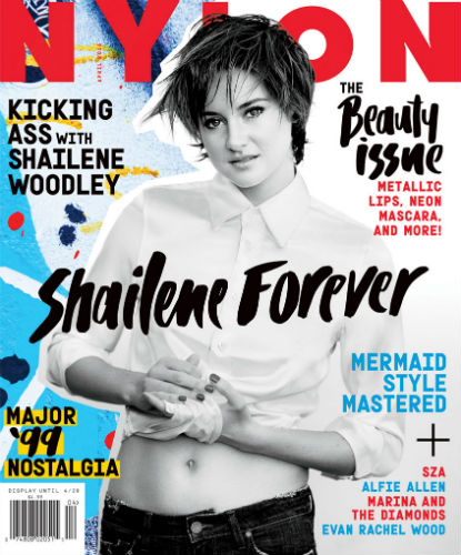 Shailene Woodley on the April 2105 issue of Nylon
