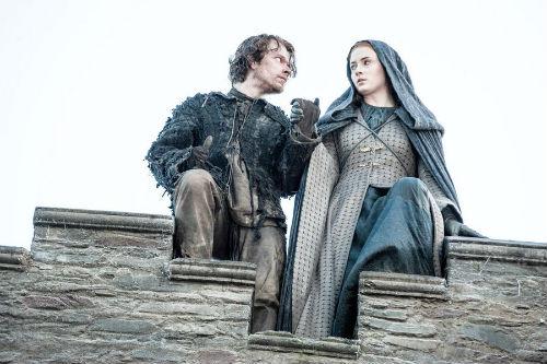 Theon (Alfie Allen) and Sansa (Sophie Turner) in the Season 5 finale of Game of Thrones
