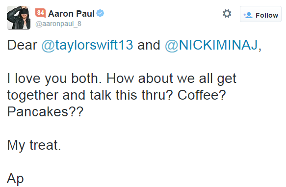 arron-paul-taylor-swift-nicki-minaj
