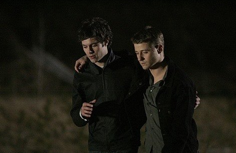 Adam Brody and Ben McKenzie in The O.C.