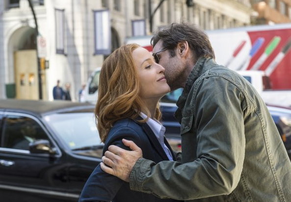 Gillian Anderson and David Duchovny in The X-Files reviva