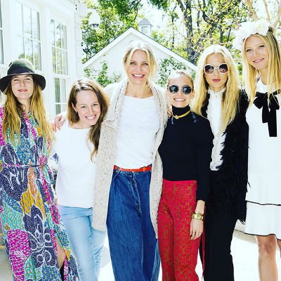 Drew Barrymore, Monique Lhuillier,  Cameron Diaz, Nicole Richie, Rachel Zoe,  Gwyneth Paltrow.