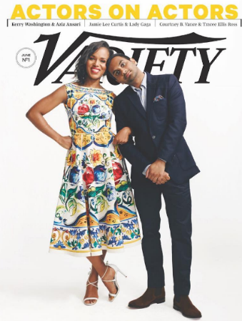kerry-washington-aziz-ansari-variety