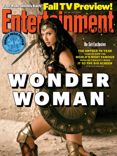 Wonder Woman on the cover of EW