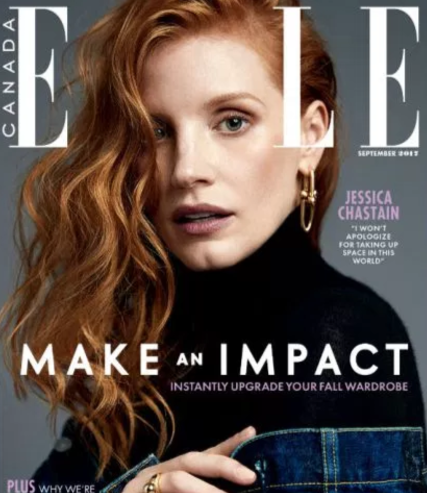 Jessica Chastain Elle Canada