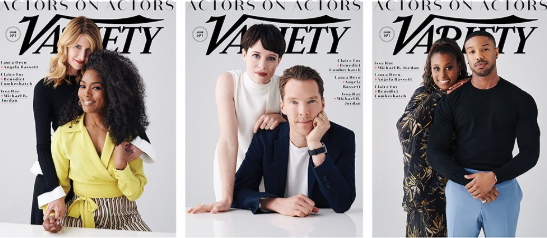 actors on actors michael b jordan laura dern claire foy benedict cumberbatch
